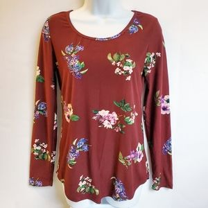 Rue21 Long Sleeve Floral Top Large